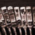Antique Typewriter Keys - Studio